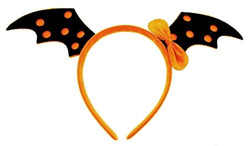 Inception Pro Infinite Cerchietto - Halloween - Accessori - Copricapo - Costume - Travestimento - Cosplay - Carnevale - Ali -Pipistrello - Arancione - Nero - Bambina - Donna