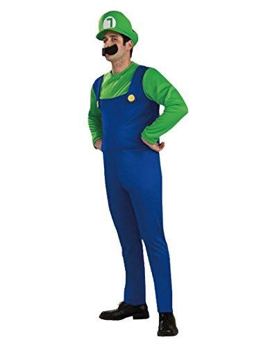Rubber Johnnies TM - Erwachsenen Mario Bros Kostüm Luigi Verkleidung - Grün