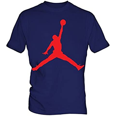 Air Jordan Logo 5 Uomo Blue T