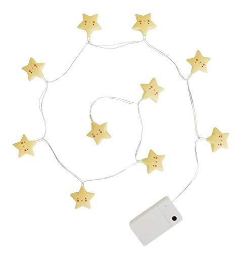 Guirlande lumineuse A Little Lovely Company LTST050, étoiles équipées de LED, jaune