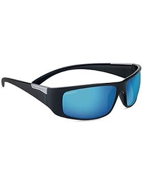 Serengeti Fasano gafas de sol, Negro Brillante, tamaño mediano