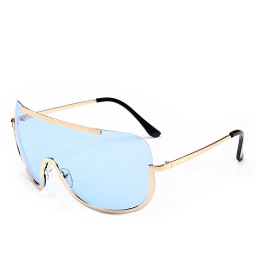 Btruely Vintage Sonnenbrille Herren Damen Polarisierte Sonnenbrille Männer Frauen Fahrbrille 2018 Klassische Sportbrille Retro Aviator Spiegel Objektiv Sonnenbrillen (Himmelblau)