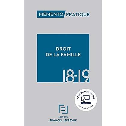 MEMENTO DROIT DE LA FAMILLE 2018-2019