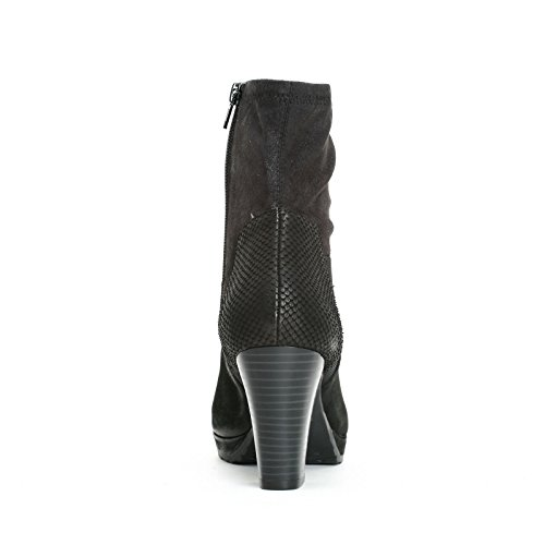 Alesya Scarpe & Scarpe - Stivaletti Con Tacco E Punta In Tessuto Elastico, Con Tacco 8 Cm Nero