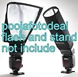 NUMEX Universal Foldable Snoot Flash Beam Cloth Softbox Diffuser Tube for Canon Nikon