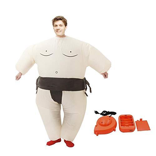 Lacyie Disfraz de Sumo Hinchable Adulto Fiesta de Halloween Disfraz Divertido Cosplay Ropa Traje