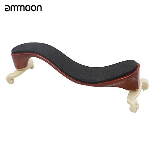ammoon Violinen-Schulterstütze Kissen Schulter aus Ahorn Holz für 3/44/4Geige Mehrfarbig mit Reinigungstuch