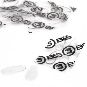 2 Paar (4 Stück) Nasenpads zum Aufkleben aus Silikon – 4 Größen – Höhe 0,7mm