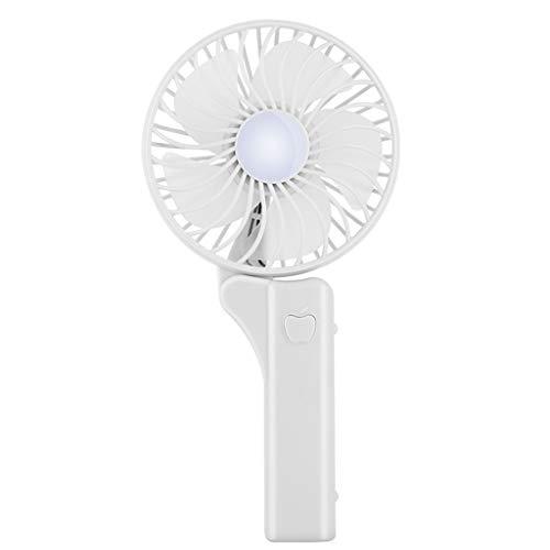 Sulifor Handheld tragbaren Faltventilator, tragbaren Ventilator niedlichen Luftkühler Falten USB 2000mAH Handheld Mini-Lüfter