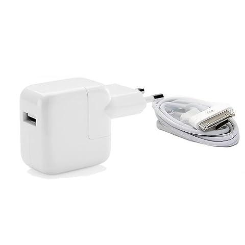 Original Apple 12W MD836ZM/A + MA591G/C Strom Adapter mit USB auf 30pin Ladekabel - iPad 2 iPad3 iPhone (Apple 12)