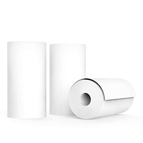 EisEyen 4 Stück Thermopapierrolle Mini Drucker Thermodrucker Handy Thermodruckpapier 57 * 25mm