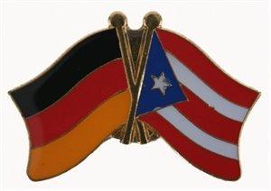 Yantec Freundschaftspin Deutschland-Puerto Rico Pin Flagge -