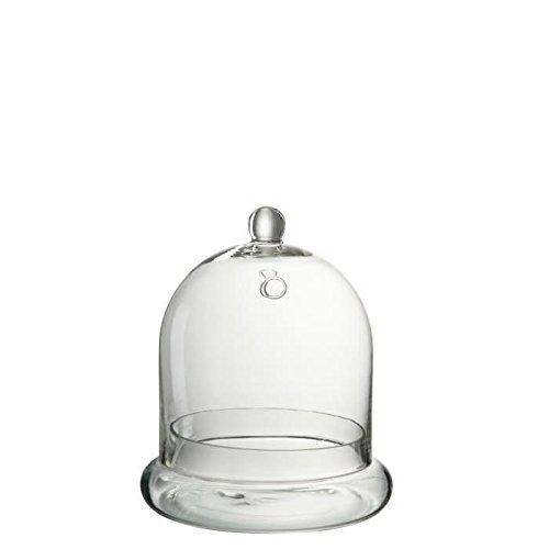 Cloche deco ronde verre 19x19x24 cm transparent
