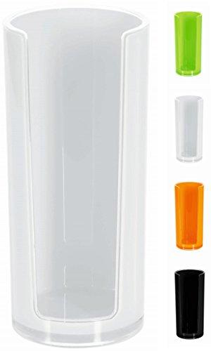 Spirella Wattepadspender Wattepadhalter Acryl Sydney Make-Up Kosmetikorganizer 16,5 x 7 cm Weiß - Wattepad-spender