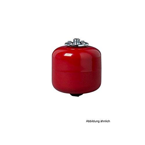 Michl MI-AFH18 Ausdehnungsgefäß 18 Liter für Heizungen, Rot Höhe: 456 mm; Durchmesser: 280 mm