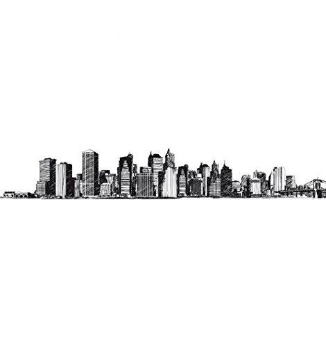 CASELIO-selbstklebende Bordüre-Wandtattoo New york