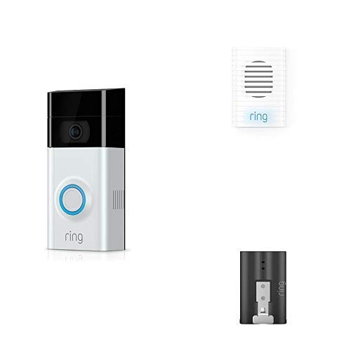 Ring Video Doorbell 2 + Chime + Extra Rechargeable Battery