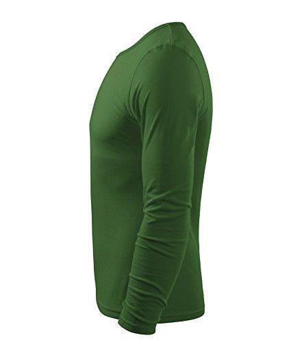 Herren Langarmshirt 100% Baumwolle T-Shirt Marke Adler - Größe und Farbe wählbar - flaschengrün