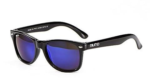 Kinder Polarisiert Sonnenbrille verspiegelt Polarized Wayfare für Jungen und Mädchen Etui 6833