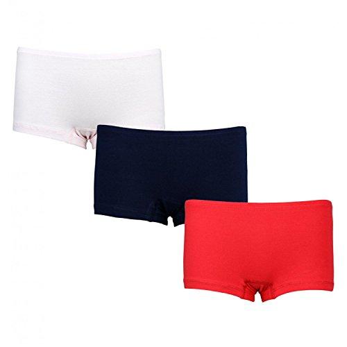 Alkato Damen Boxershorts Panties Baumwolle 3er Pack, Farbe: Farbenmix 2, Größe: S