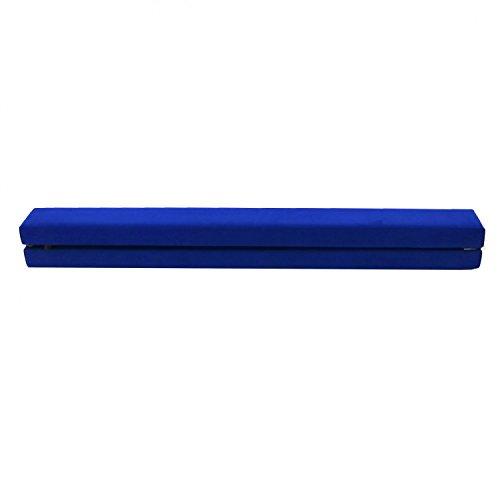 Oypla 2,1m Falten Gymnastic Training Schwebebalken Blau Faux Wildleder