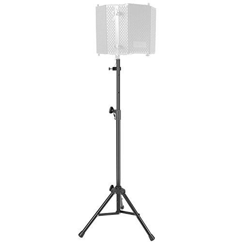 Neewer Staffa Stand per Paravento Schermo Fonoassorbente di Microfono con Tubo in Alluminio Antiscivolo/Altezza Regolabile/Stand Adatto a Sostegno di Schermo d'Isolamento Acustico in Studio