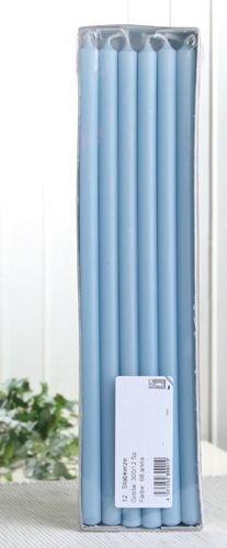 CandleCorner Stabkerzen, 30 x 1,2 cm Ø, 12er-Pack, arktisblau