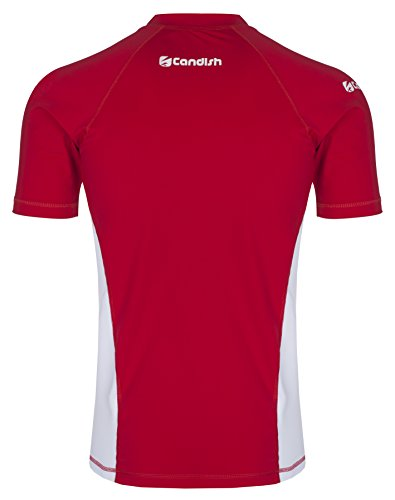 Candish WR10R Kompressionsshirt, kurzärmelig, Lycra Mehrfarbig - Rot