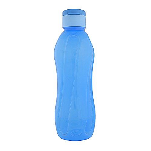 Cello Aqua Flip Polypropylene Bottle, 1 Litre, Blue