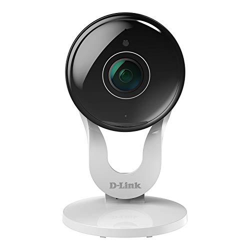 D-Link DCS-8300LH Videocamera Grandangolare 137° , (Wi-Fi, Full HD, Audio a due vie, Slot per Micro SD, Registrazione Cloud Gratuita, Funziona con Alexa), Bianco