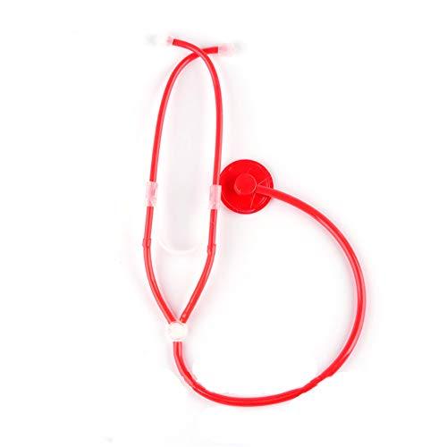Naisicatar Krankenschwester Stethoskop Halloween Rollenspiele Cosplay Props Erwachsene Krankenschwester Zubehör Halloween Party Supplies (1piece Red)