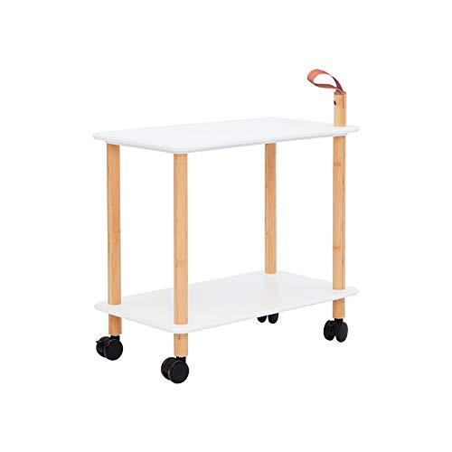 FEI Rack 2-Shelf-Servierwagen Indoor Outdoor Holz Roll Utility Cart Heavy Duty für Küche Commercial Hotel Restaurant Restaurants (Farbe : B) (Restaurant, Cart)