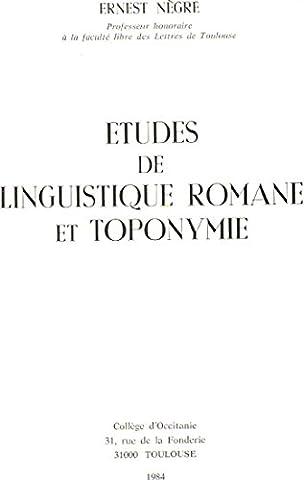 Études de linguistique romane et