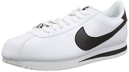 Nike Men's Cortez Basic Leather Shoe, Zapatillas de Trail Running para Hombre, Multicolor White/Black/Metallic...