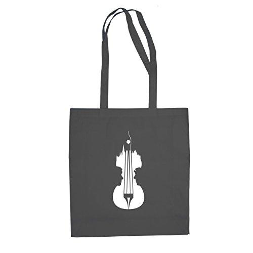 Sherlock Violin - Stofftasche / Beutel Grau