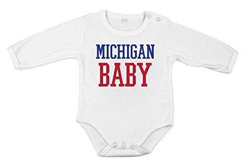 Bambino unisex in cotone neonato Body lungo Tutina bambino michigan regalo Stato USA