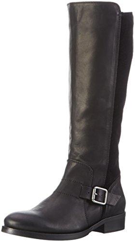 Hilfiger Denim Damen A1385vive 16c Langschaft Stiefel Schwarz (black 990)