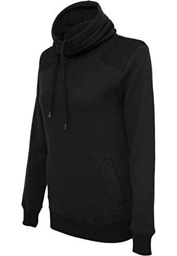 Urban Classics Damen Sweater Ladies Contrast Shoulder High Neck TB773 Abbildung 3