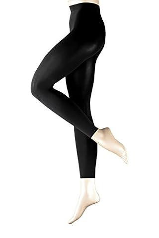 FALKE Damen Legging Pure Matt 100 Denier Einfarbig 100 DEN, Gr. 42-44 (Herstellergröße: M/L), Schwarz (Schwarz