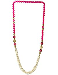 Bling N Beads Designer Pearl Necklace With Color Beads