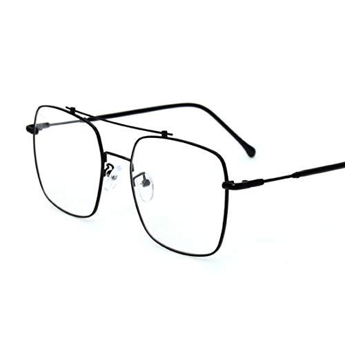 Jsfnngdv Nicht-verschreibungspflichtige Brillen Brillen Rahmen Brillen Glasrahmen für Frauen/Männer (Color : Black)