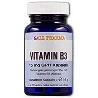 Gall Pharma Vitamin B3 15 mg GPH Kapseln, 360 Stück, 1er Pack (1 x 360 Stück) preisvergleich bei billige-tabletten.eu