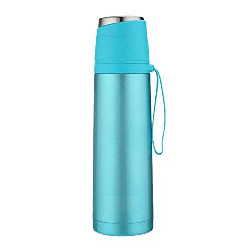 YARBAR Solido di colore proiettile in acciaio inox tazza tazza di vuoto facile da trasportare per studenti e bambini