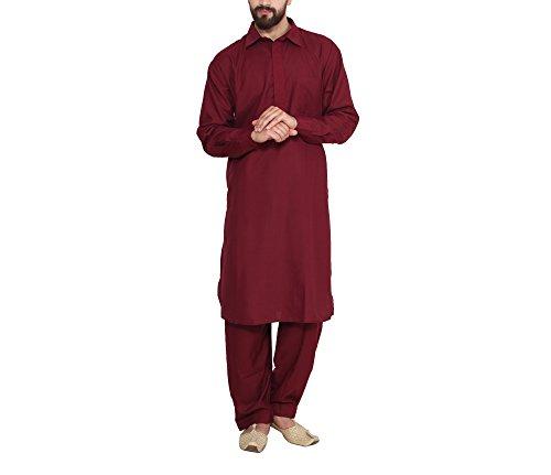 Sojanya (Since 1958) Men's Cotton Blend Pathani Kurta Salwar
