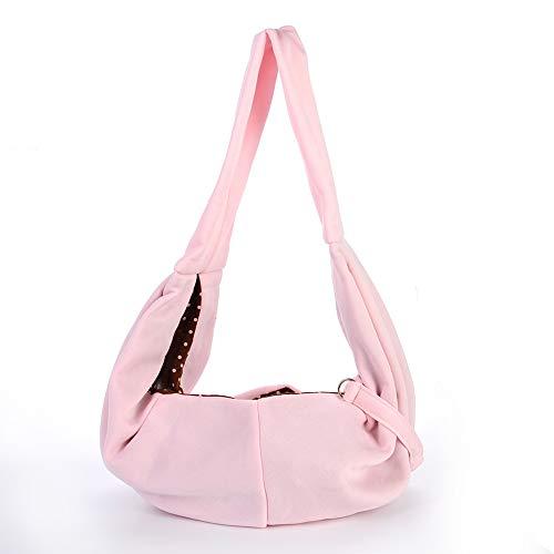 WQING Verstellbare, tragbare Tragetasche mit Schultergurt für Katzen und Hunde zum Wandern auf Reisen,Pink