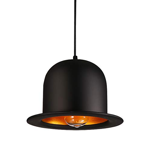 Chandeliers RéTro Light Lamp Hat The Iron Vintage Black Suspension For  Coffee Dining Ceiling Lights AOKARLIA 8408834b2780