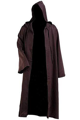 Qian Qian Herren Klassisch Cosplay Kostüm Ritter Kapuzen Robe Umhang Halloween Outfit (M, - England Ritter Kostüm