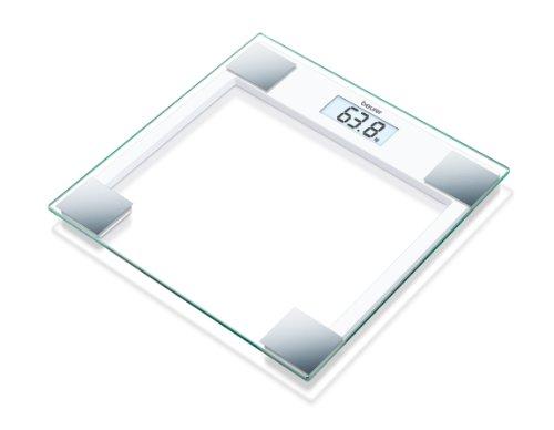 Beurer GS 14 Glaswaage (Bis 150 kg Tragkraft und 100 g Einteilung)