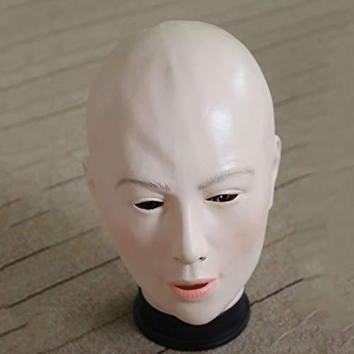 CDD Halloween-Maske Bald Beauty Horror Funny Make-Up Prom Requisiten Umweltfreundliches Latex-Material Warcraft Ghost Scary Maske Karneval Weihnachtsfeier Dekoration Erwachsene Kleidung Accessoires
