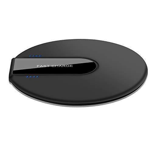 Hoidokly Chargeur sans Fil Rapide, Qi Chargeur à Induction,Fast Wireless Charger 10W pour Samsung Galaxy Note 9 / S9 / S9+ / S8 / S7, 7.5W pour iPhone XR/XS Max/XS/X /8/8 Plus - Noir